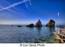 Pictures of Erchie beach, Amalfi coast (italy) csp8666348.