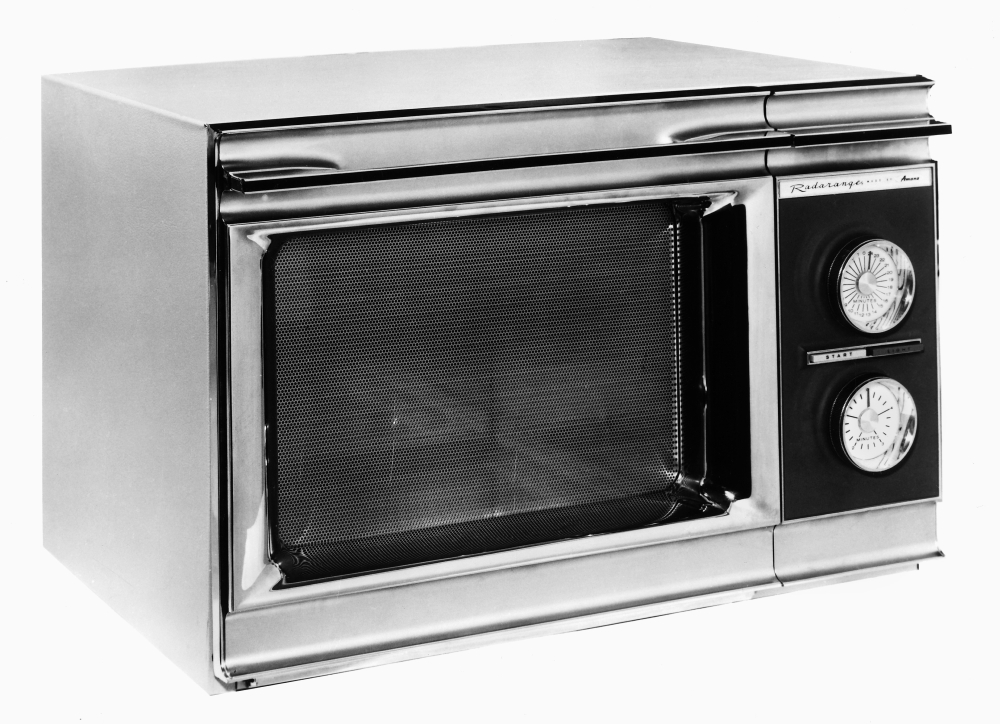 Microwave Oven 1967 Nthe Amana Radarange The First Microwave Oven Designed  For Home Use 1967 Stretched Canvas.
