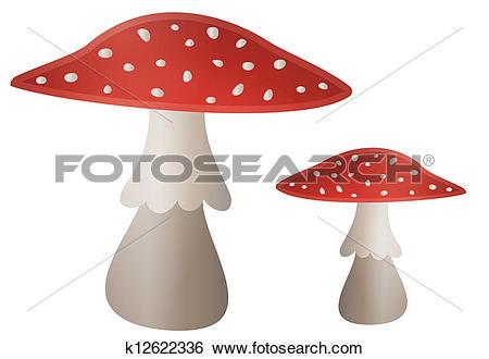 Clip Art of Mushroom Illustration.