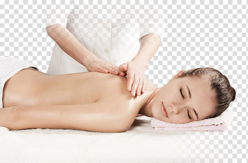Person massaging woman lying on white surface, Amara Thai.