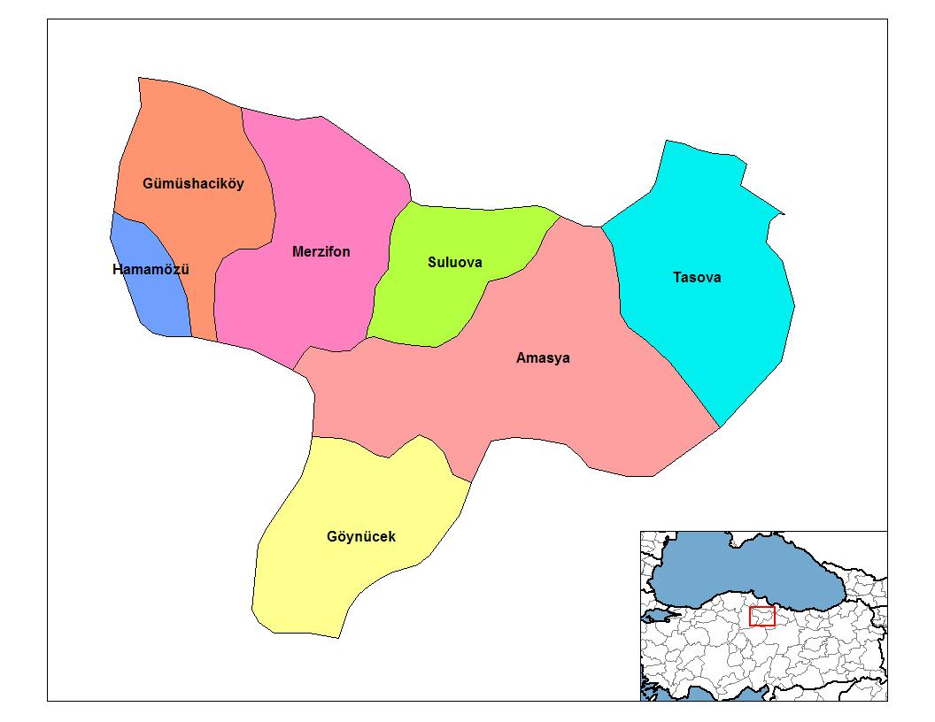 Amasya Map.