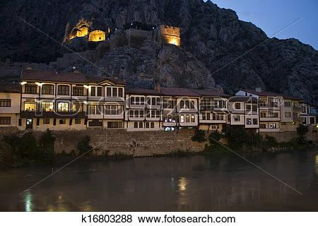 Pictures of Traditional Ottoman houses in Amasya, Turkey k16803288.