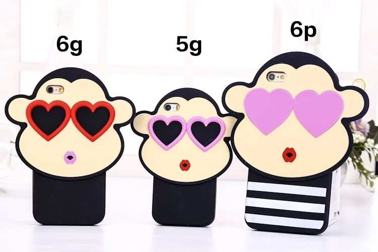 Hot Fashion 3D Cartoon Amatory Look Heart Sunglass Couple Monkey.