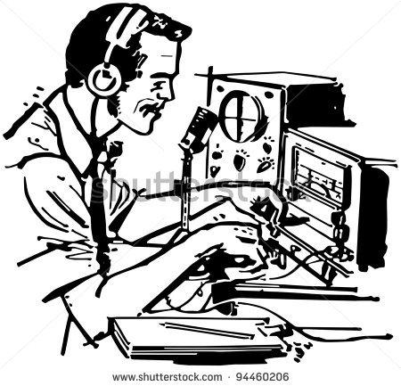 Clipart ham radio.