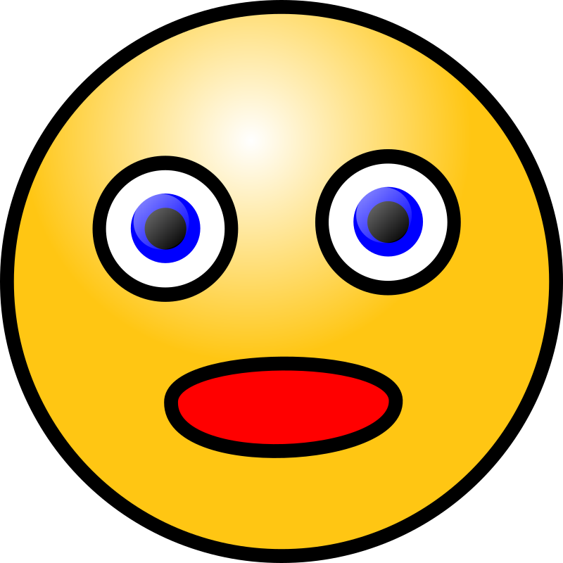 Astonished Face Clipart.