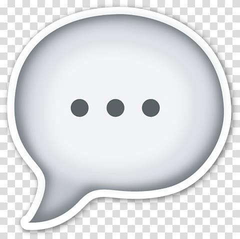 EMOJI STICKER , speech icon art transparent background PNG.
