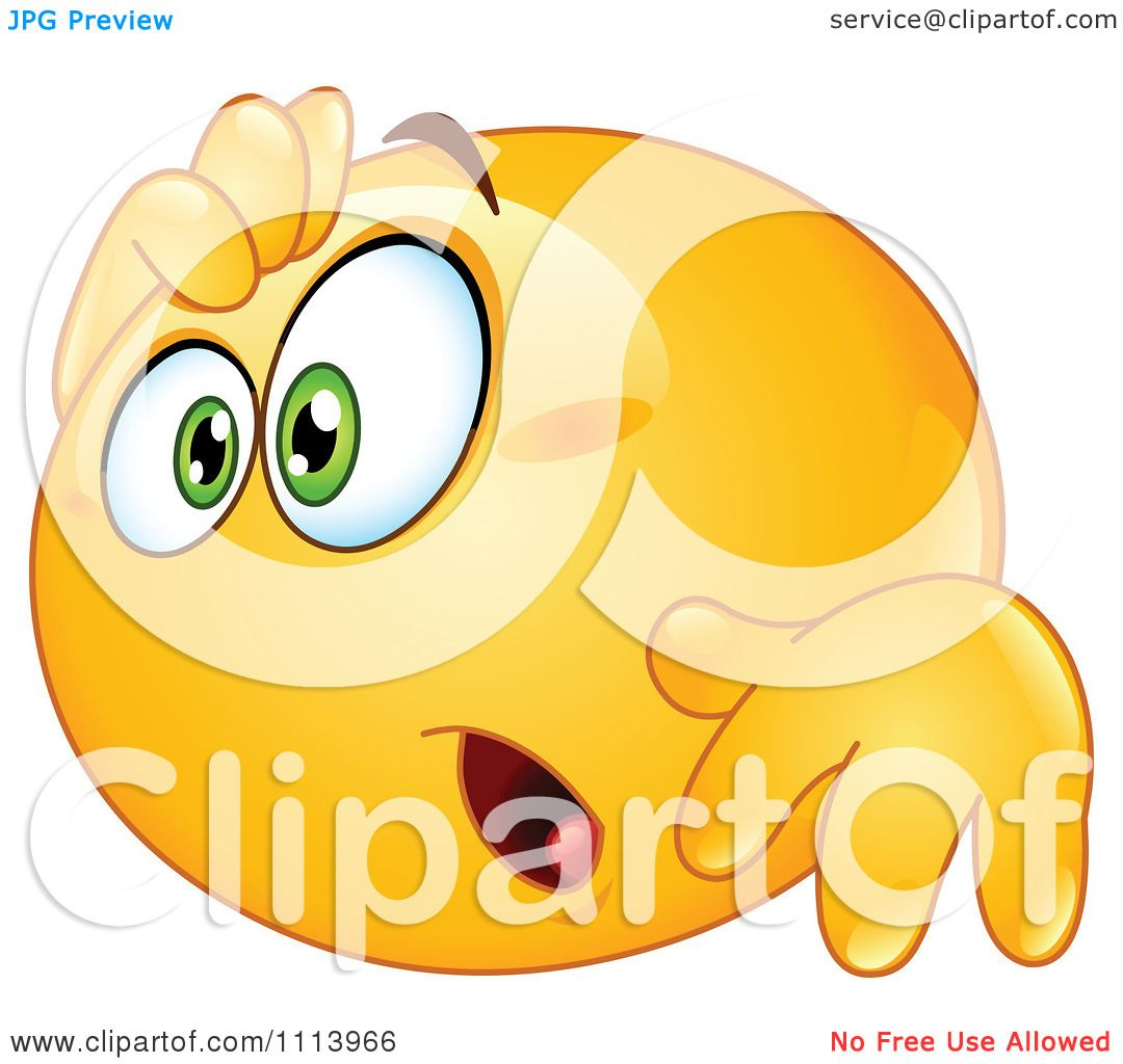 Clipart Amazed Yellow Emoticon.