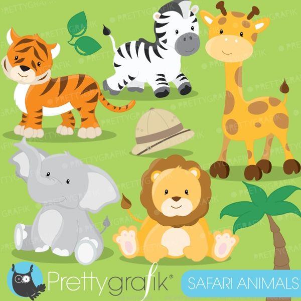 Safari Animals clipart:Amazing cliparts including a lion.
