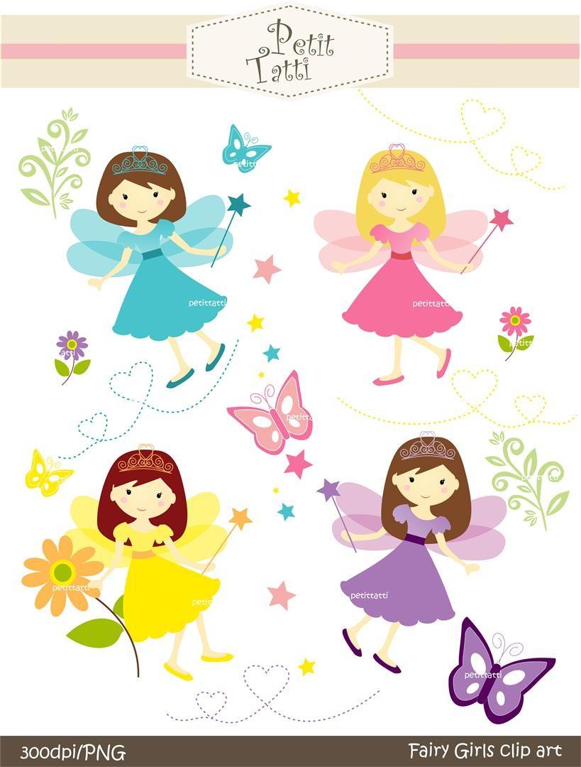 girl clipart cute fairy clip art.
