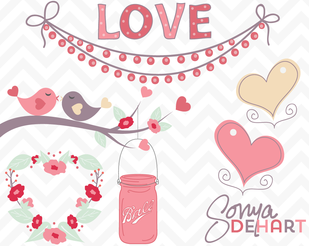 2014 Etsy Digital Designers Valentine Clip Art FREEBIE Hop.