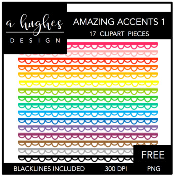 FREE Amazing Accents Clipart Set 1 {A Hughes Design}.