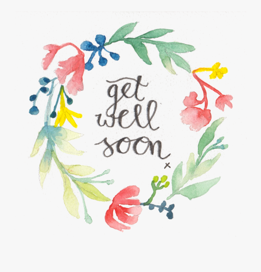 Get Well Soon Floral , Free Transparent Clipart.