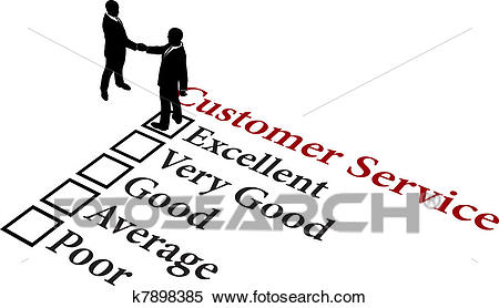 Business relationship excellent customer service Clipart.