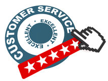 Excellent Customer Service Stock Illustrations.