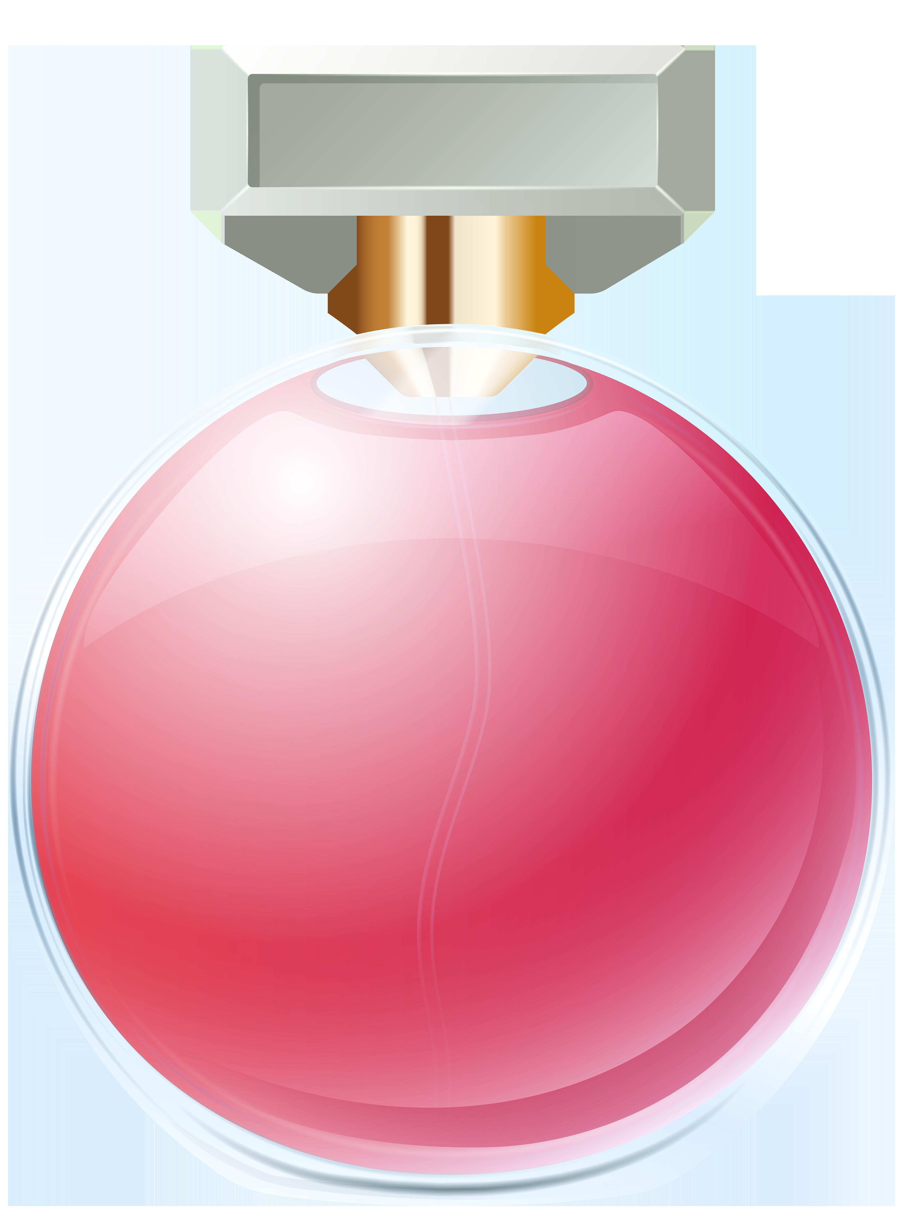 Perfume Bottle Transparent PNG Clip Art Image.