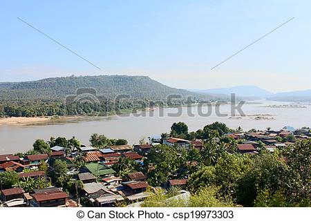 Stock Photography of Amazing view above khongjiam in ubonrachthani.