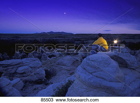 Stock Photo of Taking in the amazing view 85503.