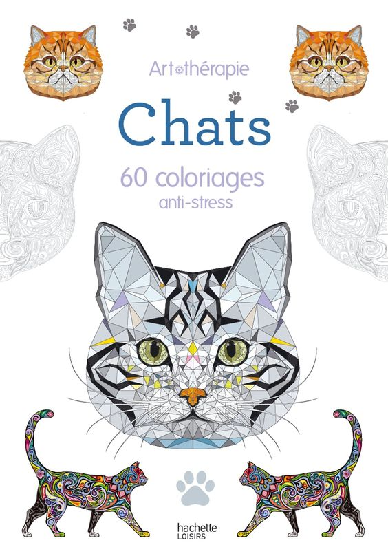Chats : 60 coloriages anti.