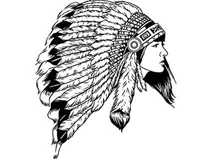 Amazon.com: Yetta Quiller Indian Woman Cherokee Headdress.
