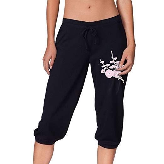 Amazon.com: Women Power Flex Jogger Sweatpants Cherry.