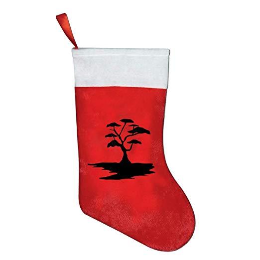 Amazon.com: Art Free Clipart Black Tree Christmas Stocking.