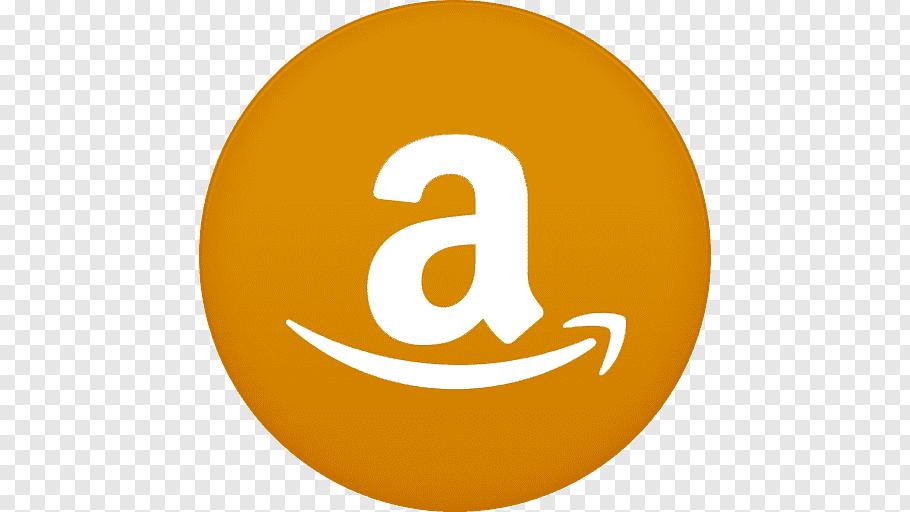 Amazon logo, text symbol yellow sphere orange, Amazon free.