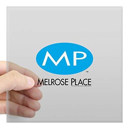 Amazon.com: CafePress Melrose Place Logo Square Sticker 3\