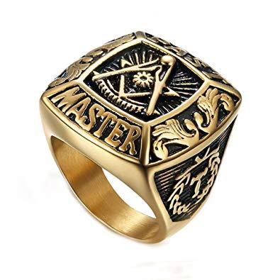Amazon.com: LANCHENEL Mens Religious Titanium Steel Masonic.