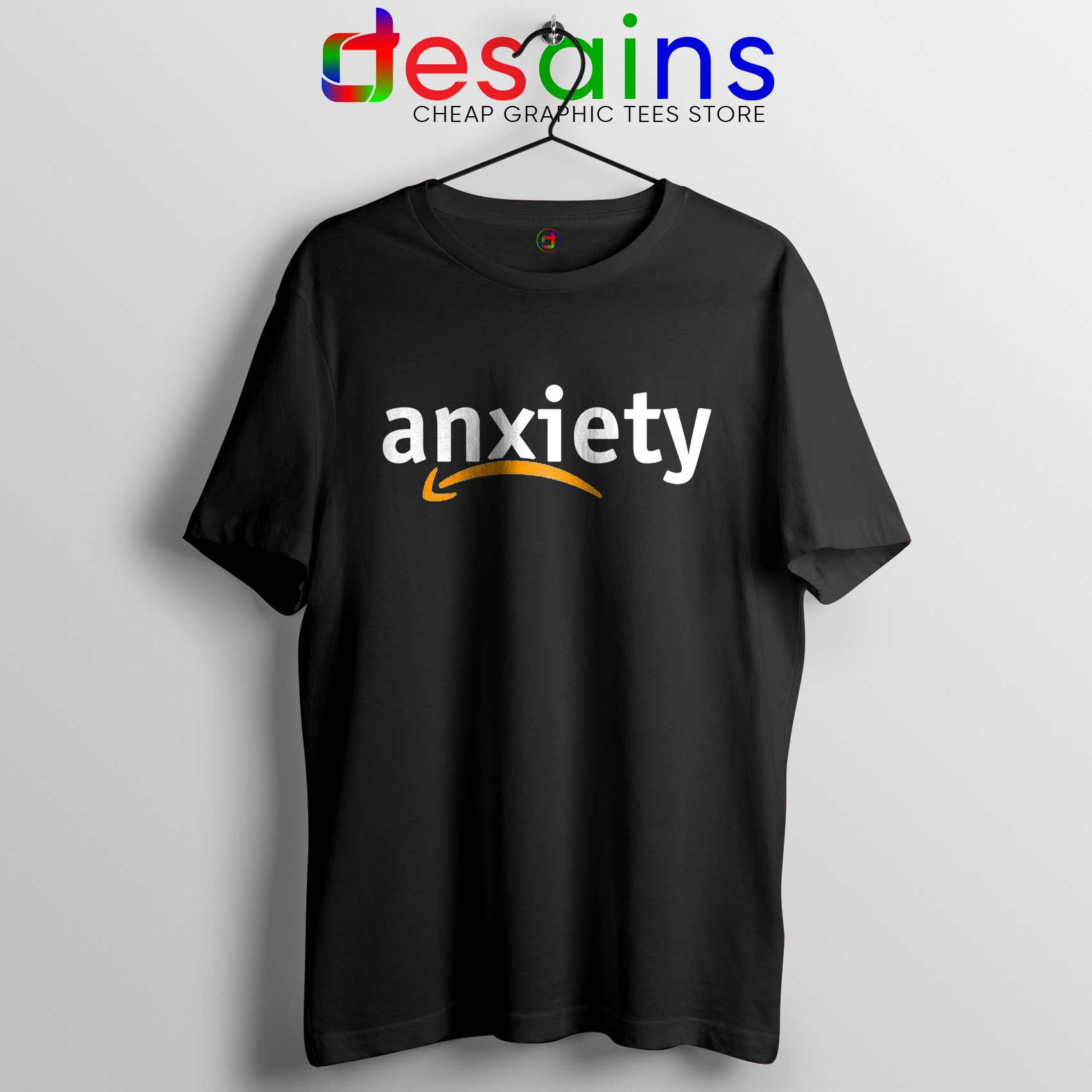 Best Tee Shirt Anxiety Amazon Logo Tshirt Funny Review.