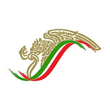 Mexican Eagle Flag Sticker Decal Mexico Aguila Mexicana Calcomania.