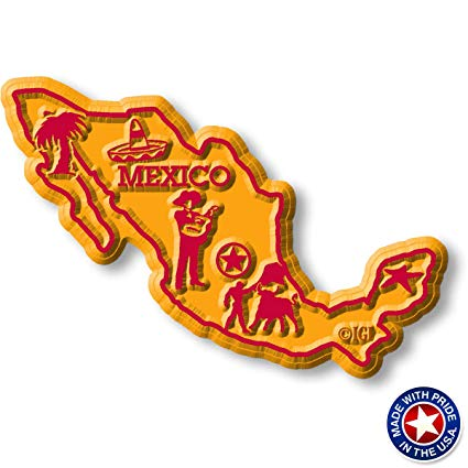 Mexico Map Magnet.
