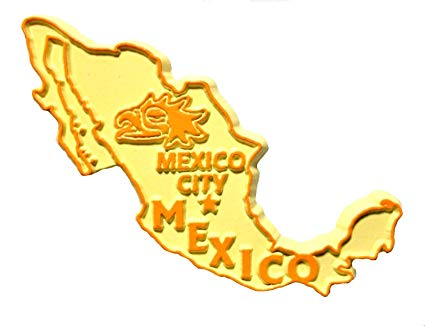 Mexico Country Outline Fridge Magnet.