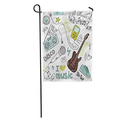 Amazon.com : zhurunshangmaoGYS Garden Flag Mp3 Music Doodles.