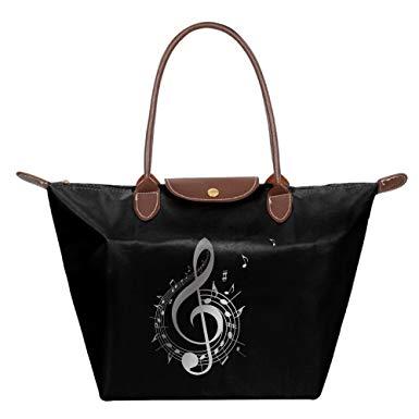 Amazon.com: Music Notes Clipart Women\'s Travel Shoulder.
