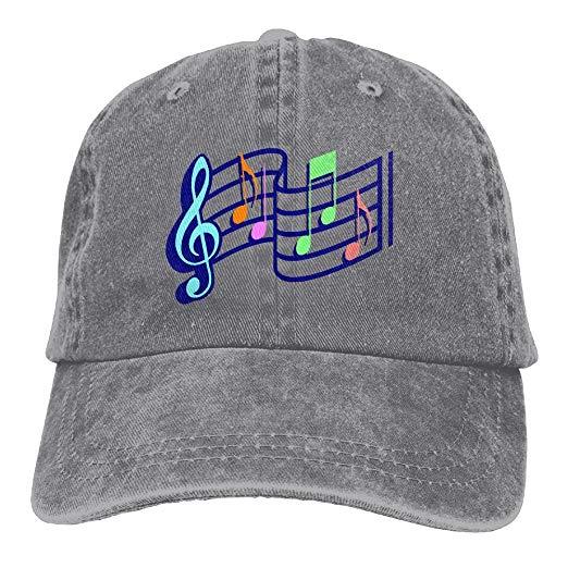 Amazon.com: Music Notes Clipart Adjustable Cotton Cap Ash.