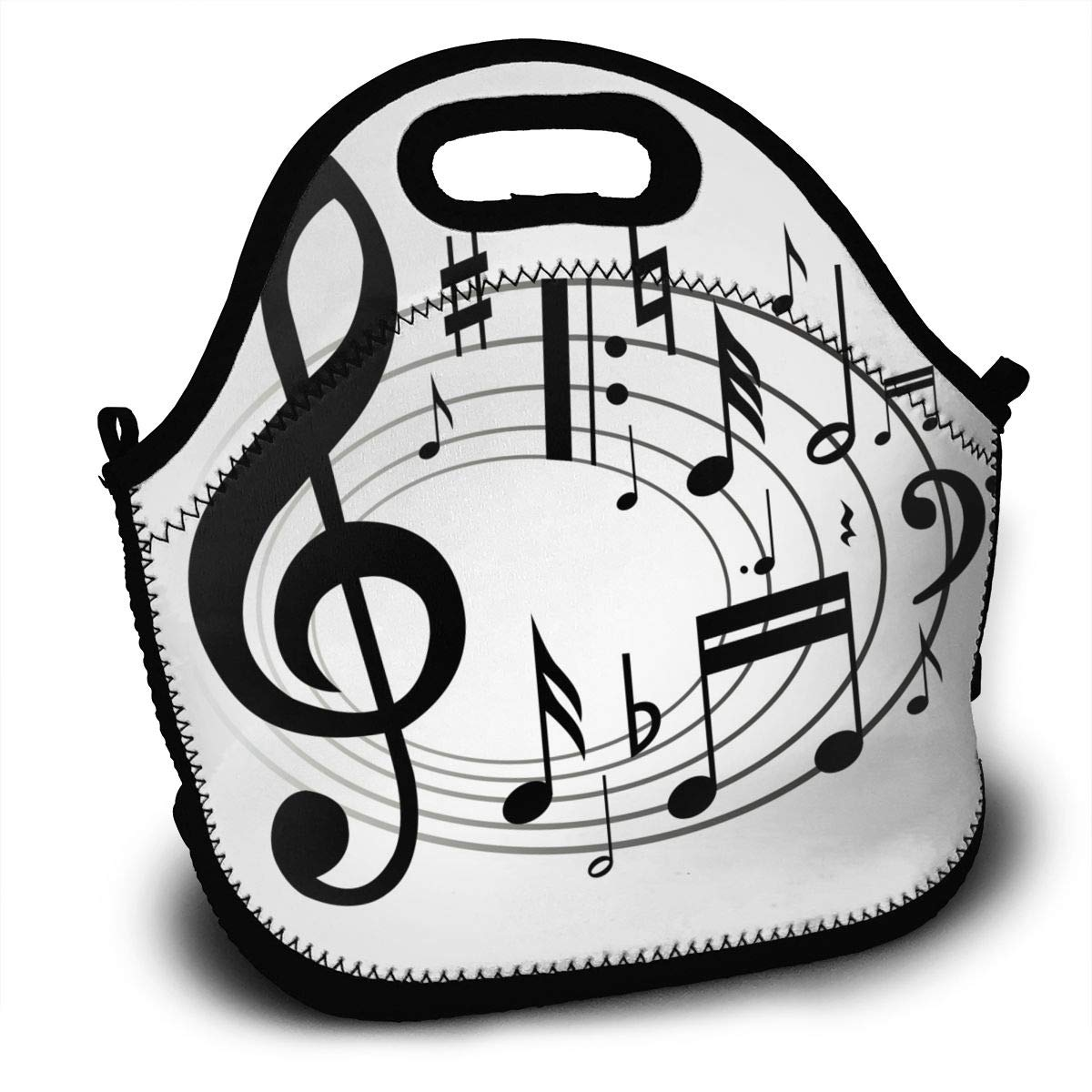 Amazon.com: Music Notes Clipart Lunch Bag Womens Insulated.