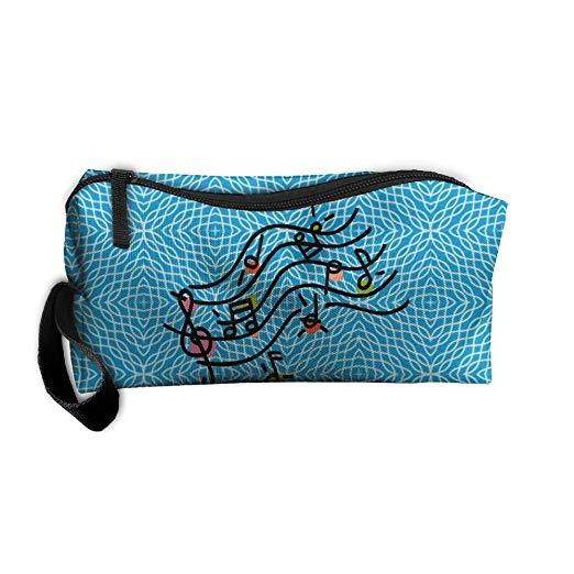 Amazon.com: Makeup Bag Cosmetic Bag Music Clipart Storage.