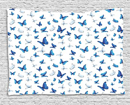 Amazon.com: Ambesonne Butterflies Decoration, Butterflies.
