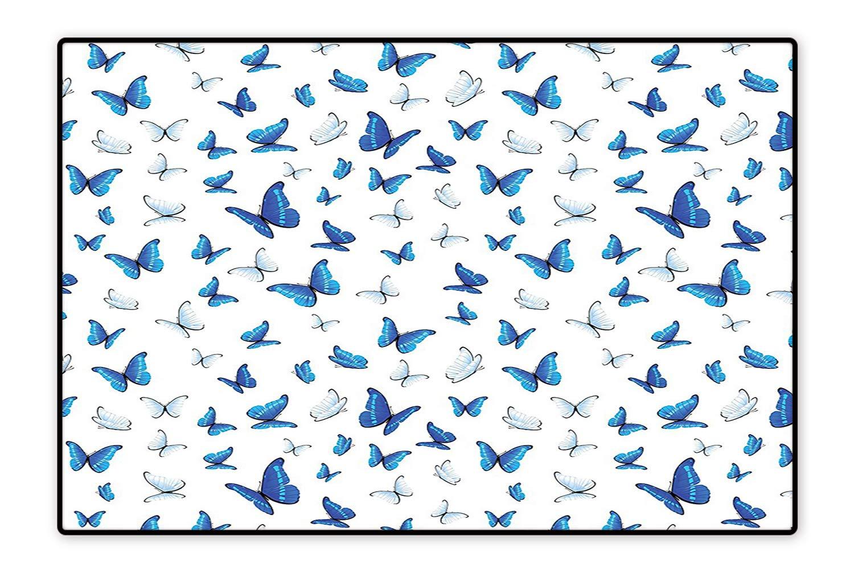 Amazon.com: Indoor/Outdoor Rug Butterflies Patterns Seasonal.