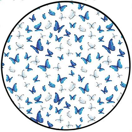 Amazon.com: Short Plush Floor mat/Rug ation Butterflies.