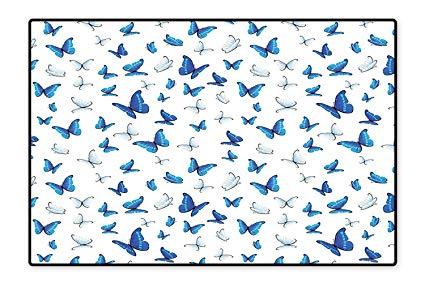 Amazon.com: Printed Floor Rugs Butterflies Patterns Seasonal.