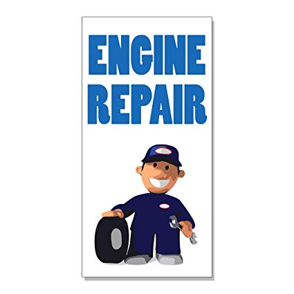Amazon.com : Engine Repair With Human Clipart DECAL STICKER.