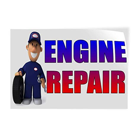 Amazon.com : Decal Sticker Multiple Sizes Engine Repair with.