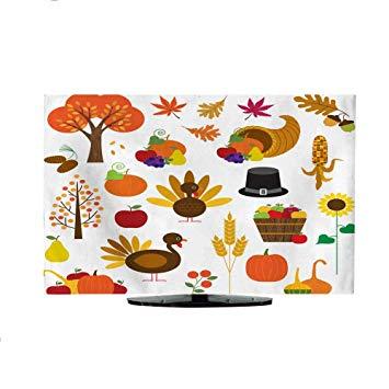 Amazon.com: TV Curtain Cover Thanksgiving Clipart L40 x W42.