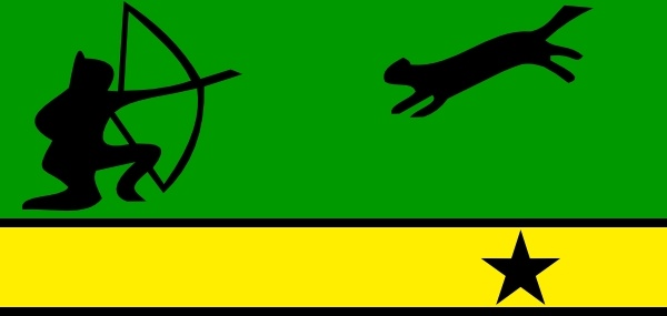 Flag Of Amazonas Colombia clip art Free vector in Open office.