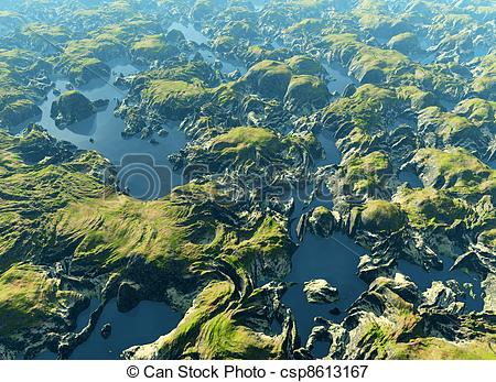 Picture of Amazon river bird's eye view csp8613167.