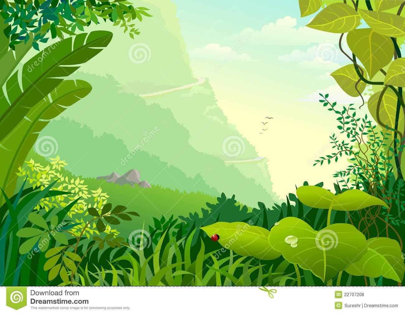 Jungle Plants Clipart.
