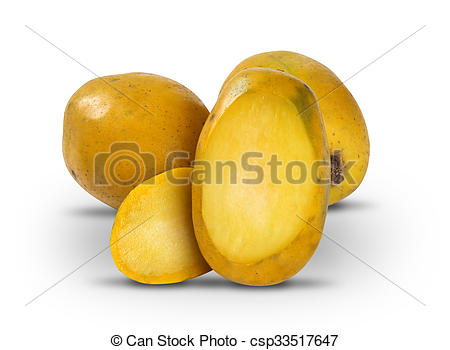 Stock Photo of Cajamanga on a white background. Also called as.