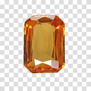 Gemstones, oval amber gemstone transparent background PNG.