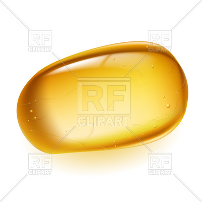 Piece of golden amber Vector Image #16149.